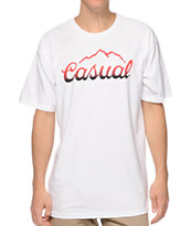 Casual Industrees Tap The Mountain Fade White Tee Shirt