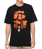 Teruo Golden Gate Fog Black Tee Shirt