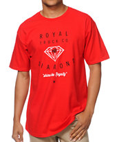 Royal Trucks X Diamond Supply Red & White Tee Shirt
