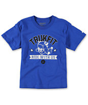 Trukfit Boys Ride With Us Blue Tee Shirt