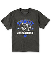 Trukfit Boys Ride With Us Charcoal Tee Shirt