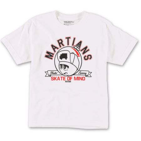 Trukfit Boys Martians White Tee Shirt