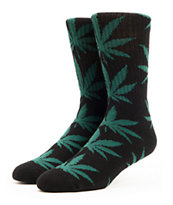 HUF Plantlife Black & Green Crew Socks