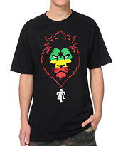 Teruo Imperial Lion Rasta Black Tee Shirt
