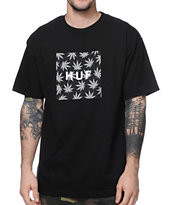 HUF Plantlife Box Logo Black Tee Shirt