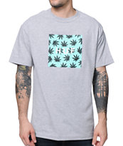 HUF Plantlife Box Logo Heather Grey Tee Shirt