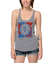 Obey The Possee Flag Grey Racerback Tank Top