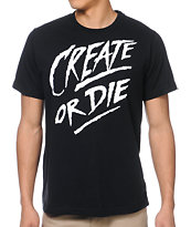 So-Gnar Create Or Die Black Tee Shirt