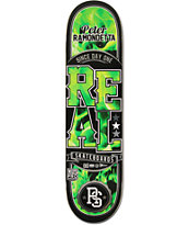 Real Ramondetta Burn Green 8.18 Skateboard Deck
