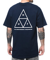 HUF Triple Triangle Navy Tee Shirt