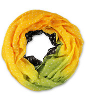 D&Y Gradiant Yellow & Brown Infinity Scarf
