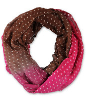 D&Y Gradiant Burgundy & Brown Infinity Scarf