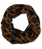 D&Y Large Cheetah Brown & Black Infinty Scarf