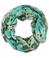 D&Y Abstract Cheetah Tiger Blue Infinity Scarf