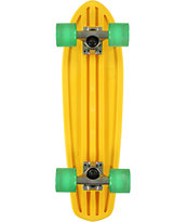 Globe Bantam 24 Clear Yellow Cruiser Complete Skateboard