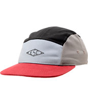 Empyre Tempest Black, Red, & Grey 5 Panel Hat