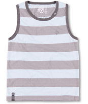 LRG Boys CC Striped Blue Tank Top