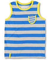LRG Boys Forestation Blue Tank Top