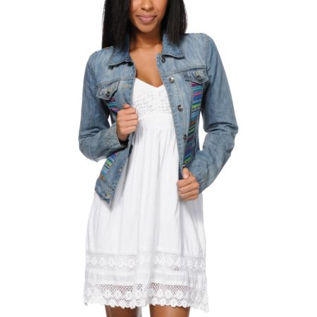 Angel Kiss Girls Tribal Denim Jacket