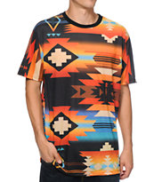 Mac Miller x Neff Tribal Print Sublimated Tee Shirt