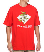 Diamond Supply Homegrown Red Tee Shirt