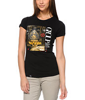 LRG Girls Panda Path Black Tee Shirt