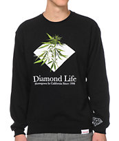 Diamond Supply Homegrown Black Crew Neck Sweatshirt