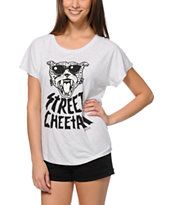 LRG Girls Street Cheetah Heather Grey Dolman Tee Shirt