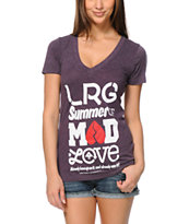 LRG Girls Mad Love Purple V-Neck Tee Shirt