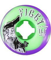 OJ Figgy Pro 53mm Green & Purple Skateboard Wheels