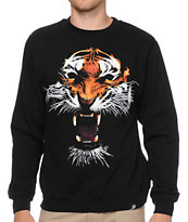 Primitive El Tigre Black Crew Neck Sweatshirt