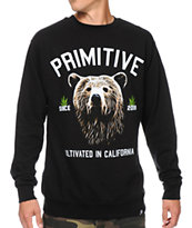 Primitive Golden Bear Black Crewneck Sweatshirt