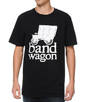Bandwagon Sticker Black Tee Shirt