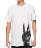 Bandwagon Peace Man White Tee Shirt