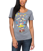 Mac Miller x Neff Girl Ups Heather Grey Tee Shirt