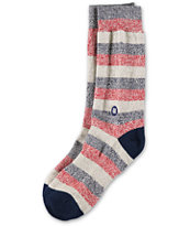 Stance Speedway Navy & Red Stripe Crew Socks
