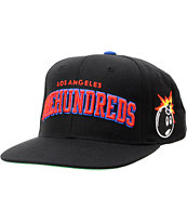 The Hundreds Player Black & Blue Snapback Hat