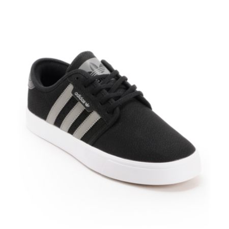 Adidas Seeley Grey, Black, & White Skate Shoe