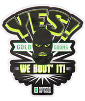 Gold Wheels We Bout It Sticker