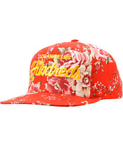 The Hundreds Team Floral Red Snapback Hat
