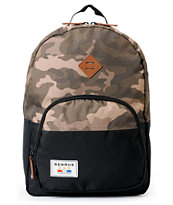 Benrus Bulldog Laptop Camo & Black Backpack