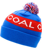 Coal Team Blue Pom Beanie