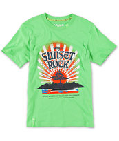 LRG Boys Sunset Rock Green Tee Shirt
