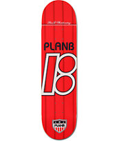 Plan B United Red 8.0 Team Skateboard Deck