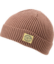 Obey Dover Brown Fold Beanie