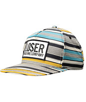 Loser Machine Weller Striped Box Logo Snapback Hat