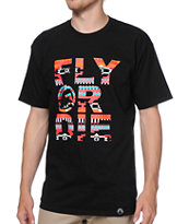 Group Fly Native Fly Or Die Black Tee Shirt