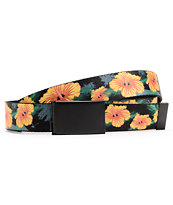Buckle Down Woodland Hibiscus Print Web Belt