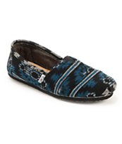 Toms Classics Black Jacquard Men's Slip On Shoes
