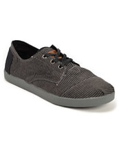Toms Paseos Black Stripe Canvas Men's Shoes